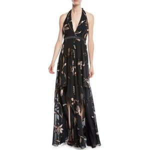 Halston Heritage Floral Gown